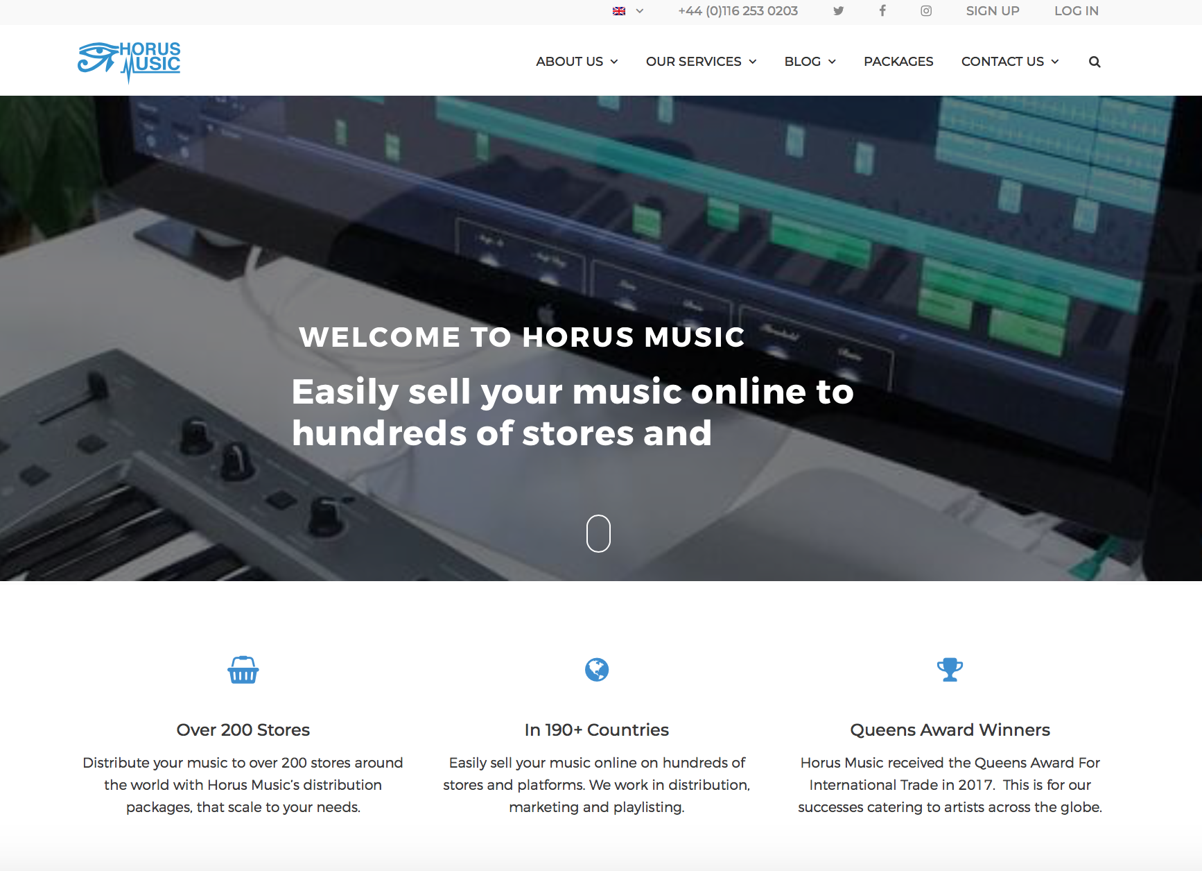 horus music website redesign case study