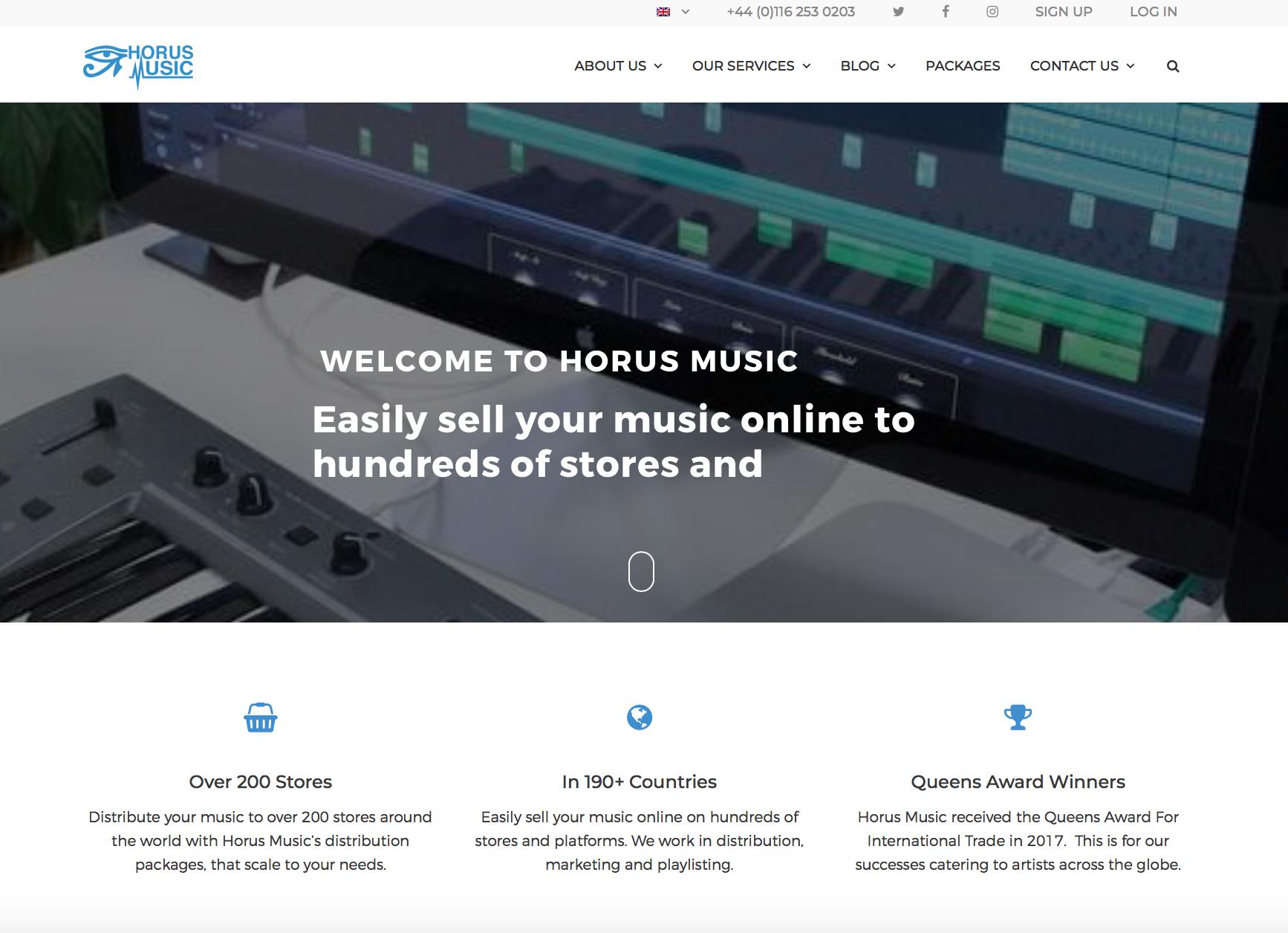horus music website redesign case study