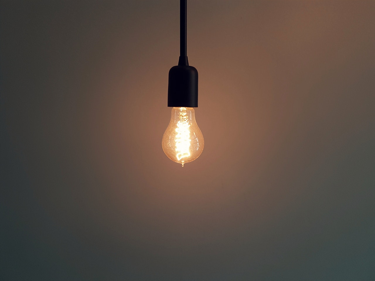 Change of mindset lightbulb